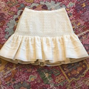 Women's J. Crew linen mini skirt: size 2 with tags